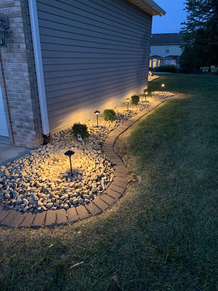 Installation of landscape lighting